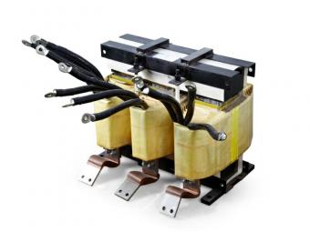 Three phase converter choke for transformer